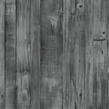 Vliesové tapety na stenu Origin - drevené dosky čierno-sivé