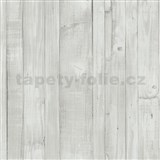 Vliesové tapety na stenu Origin - drevené dosky vintage biele