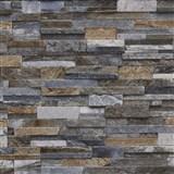 Vliesové tapety na stenu Origin - kameň pieskovec hnedý, sivý, modrý