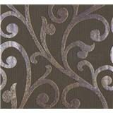 Vliesové tapety na stenu Ornamental Home - ornament fialovo-hnedý
