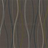 Vliesové tapety na stenu Patchwork - vlnovky tyrkysovo-biele