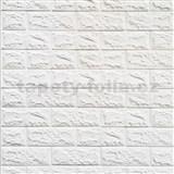Samolepiace penové 3D panely rozmer 70 x 77 cm, tehla biela