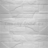 Samolepiace penové 3D panely rozmer 76 x 68 cm, kameň biely