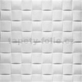 Samolepiace penové 3D panely rozmer 69,5 x 69,5 cm, 3D plaid biely