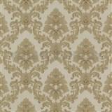 Tapety na stenu Poison barokový vzor zlatý na svetlo hnedom podklade ZĽAVA