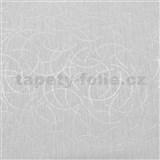 Vliesové tapety na stenu Polar curls svetlo sivý se strieborným vzorom
