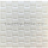 3D panel XPS kocka biela rozmer 50 x 50 cm