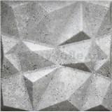 3D panel XPS DIAMANT BETÓN sivý 50 x 50 cm
