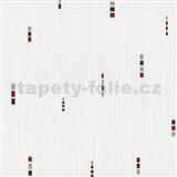 Vliesové tapety na stenu Pure and Easy geometrické štvorčeky sivo-červené