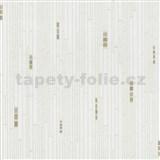 Vliesové tapety na stenu Pure and Easy geometrické štvorčeky béžové na bielom podklade
