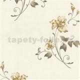 Vliesové tapety na stenu Pure and Easy kvety svetlo hnedé
