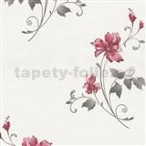 Vliesové tapety na stenu Pure and Easy kvety červené
