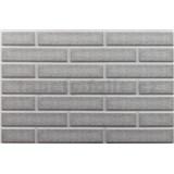 Obkladové 3D PVC panely rozmer 440 x 580 mm tehla svetlo sivá s bielou škárou