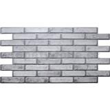 Obkladové 3D PVC panely rozmer 971 x 498 mm tehla svetlá