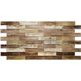 Obkladové 3D PVC panely rozmer 980 x 480 mm drevenný obklad dub holandský