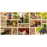 Obkladové 3D PVC panely rozmer 980 x 480 mm víno
