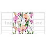 Obkladové 3D PVC panely rozmer 955 x 480 mm kvety Calla