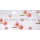 Obkladové 3D PVC panely rozmer 955 x 480 mm kvety gerbery