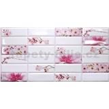 Obkladové 3D PVC panely rozmer 955 x 480 mm kvety sakury