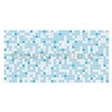 Obkladové 3D PVC panely rozmer 955 x 480 mm mozaika svetlo modrá