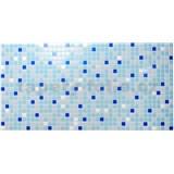 Obkladové 3D PVC panely rozmer 955 x 480 mm mozaika modrá