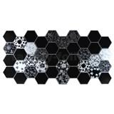 Obkladové 3D PVC panely rozmer 973 x 492 mm, hrúbka 0,2 mm, čierno-biely Floral