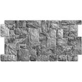 Obkladové 3D PVC panely rozmer 980 x 490 mm ukladaný kameň prírodný čierny