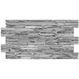 Obkladové 3D PVC panely rozmer 980 x 500 mm kameň sivý