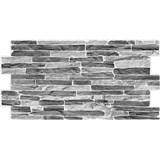 Obkladové 3D PVC panely rozmer 980 x 500 mm kameň sivo-čierny