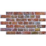 Obkladové 3D PVC panely rozmer 951 x 495 mm, hrúbka 0,4mm, tehla červená s patinou