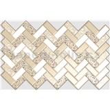 Obkladové 3D PVC panely rozmer 992 x 629 mm, hrúbka 0,6mm, obklad bielo-zlatý s ružami