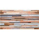 Obkladové 3D PVC panely rozmer 957 x 480 mm, hrúbka 0,4mm, farebné drevo s patinou