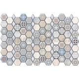 Obkladové 3D PVC panely rozmer 966 x 645 mm, hrúbka 0,6mm, hexagon Maroccan