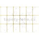 Obkladové 3D PVC panely rozmer 947 x 635 mm, hrúbka 0,6mm, mramor biely so zlatou špárou