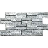 Obkladové 3D PVC panely rozmer 955 x 476 mm kameň sivý