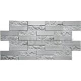 Obkladové 3D PVC panely rozmer 980 x 490 mm pieskovcový kameň sivý
