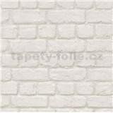 Papierové tapety na stenu tehla biela