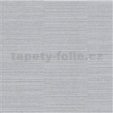 Vliesové tapety na stenu Collection jednofarebná strieborná s jemným vodorovným prúžkom
