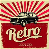 Retro tabula Retro Car 30 x 30 cm
