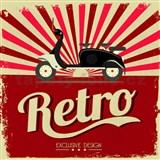 Retro tabula Retro Motorcycle 30 x 30 cm