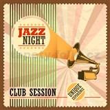Retro tabule Jazz Night 30 x 30 cm