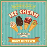 Retro tabula Ice Cream 30 x 30 cm