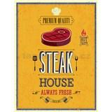 Retro tabula Steak House 40 x 30 cm