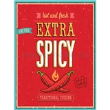 Retro tabula Extra Spicy Hot and Fresh 40 x 30 cm