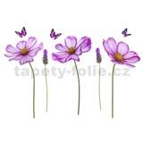 Samolepky na stenu kvety fialové 95 cm x 142 cm