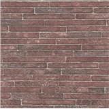 Vliesové tapety na stenu Sand and Stones tehla klinker bordová s výraznou štruktúrou
