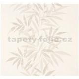 Vliesové tapety na stenu Sinfonia listy svetlo hnedé
