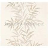 Vliesové tapety na stenu Sinfonia listy hnedo-zelené