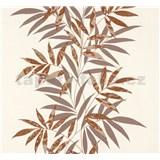 Vliesové tapety na stenu Sinfonia listy hnedé