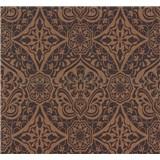Vliesové tapety na stenu Sinfonia ornament tmavo hnedý